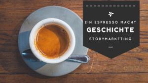 Doris Märtin | sage und schreibe: Ein Espresso macht Geschichte